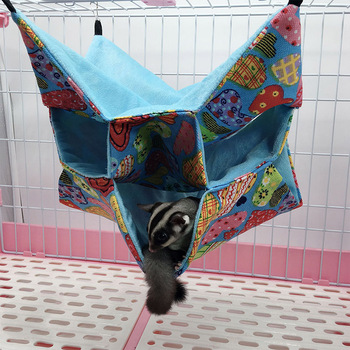 Triple Layers Pet Cage Hammock Guinea Pig Bedding Cage for Small Parrots Squirrel Hamster DTT88 1