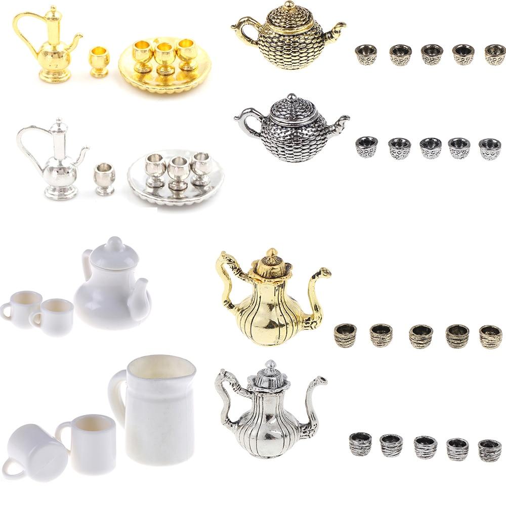 Multiple Tea Set Teapot Cup Tableware Kitchen Dollhouse Furniture Toy Baby Children Toys
