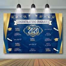 2020 Выпускной фон класс поздравления градиентные украшения