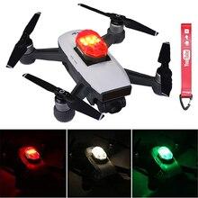 Lumière de Drone dulanzi DR 01 pour DJI Marvic 2 Pro mouche de nuit accessoires de Drone rvb visibles éclairage stroboscopique AntiCollision Rechargeable