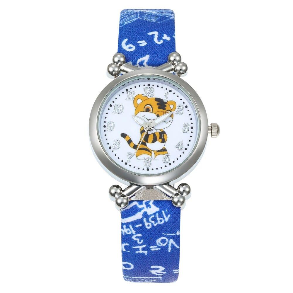 Hot Fashion Brand Cartoon Cute Little Tiger Kids Quartz Watch Children Girls Boys Leather Bracelet Wrist Watch Wristwatch Clock
