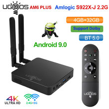 Ugoos am6 plus caixa de tv amlogic S922X-J smart android 9.0 caixa de tv ddr4 4gb 32gb 2.4g 5g wifi 1000m bt ott 4k caixa de tv media player