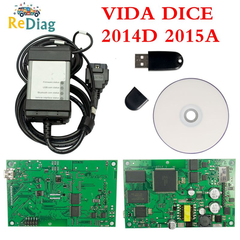 Newest For Volvo Vida Dice 2015A 2014D Full Chip Car Diagnostic Tool Multi-Language Dice Pro For Volvo Dice Scanner Green Board