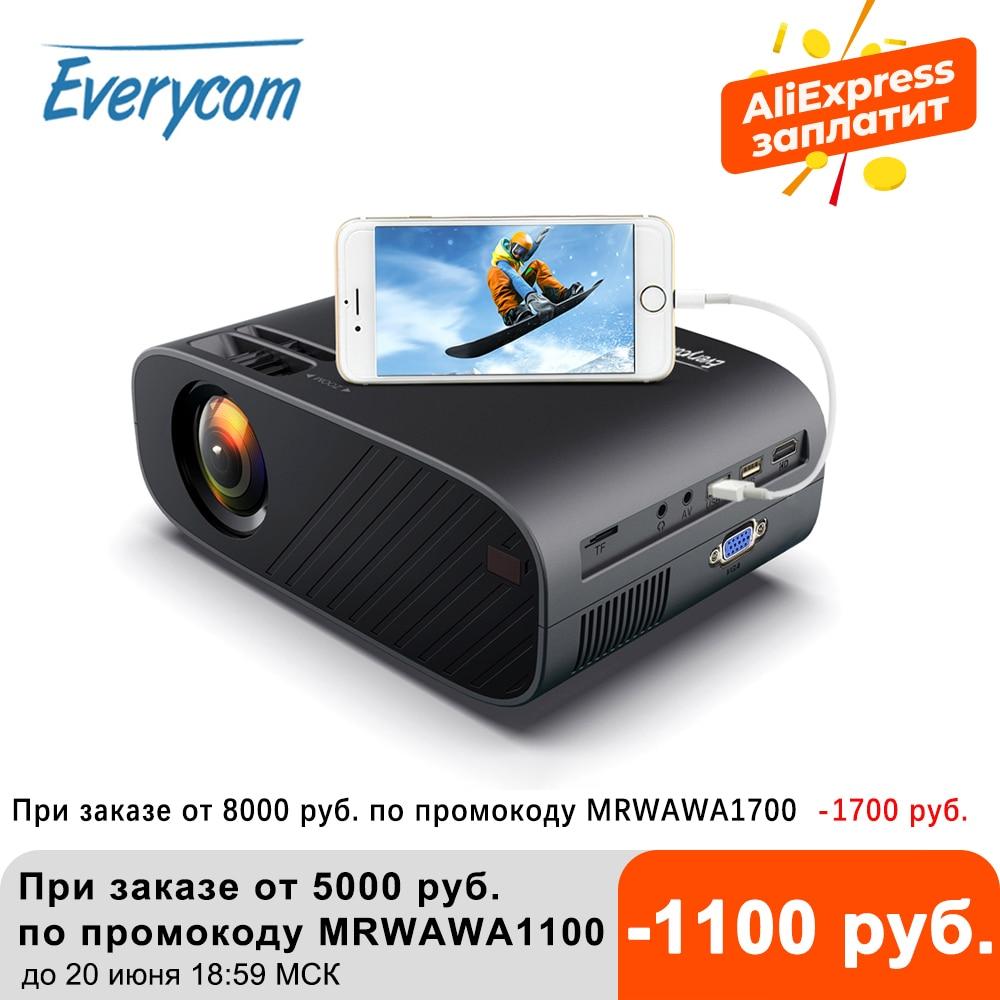 Everycom M7 светодиодный видео проектор 720P Портативный дополнительный Android Wifi мультимедийный проектор с технологией Bluetooth Поддержка Full HD 1080P дом...