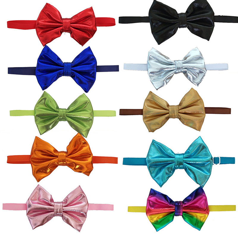 100pcs Large dog Bow Ties fabric bowtie Adjustable Dog Grooming Accessories for large middle dog Grooming Products