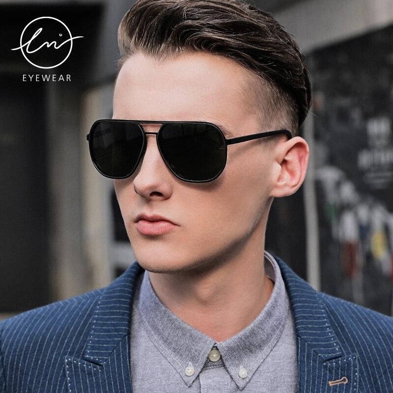Lm 2021 брендовые поляризованные солнцезащитные очки для мужчин
