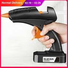 Беспроводной клеевой пистолет горячего расплава 80 Вт 12 в перезаряжаемая