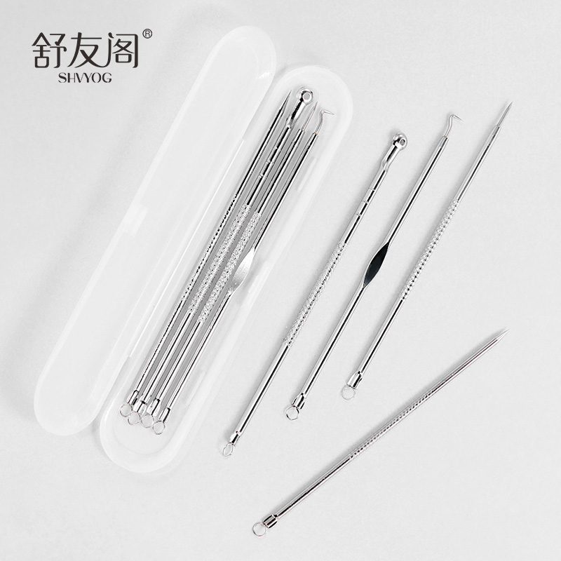 4 Pcs Acne Blackhead Removal Needles Stainless Pimple Spot  Pimple Acne Extractor Black Head Pore Cleaner Tool Skin Care