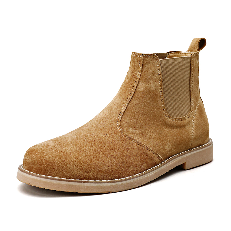 Comfort Men's Classic Casual Leather Boots British Style Chelsea Boots High Quality Suede Men Ankle Boots Fashion Martin Boots