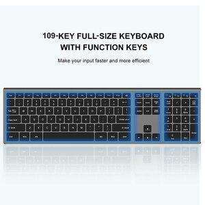 Image 2 - SeenDa Dünne 2,4G Wireless Tastatur für Laptop Desktop Schere Schalter Tastatur für Windows Mac OS Volle Größe 109 Schlüssel tastatur