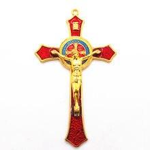 Крест Иисус Римский молитва декорация религиозный крест красный