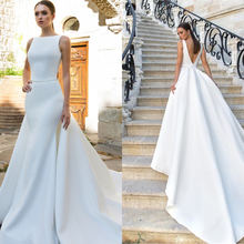 Женское атласное платье Русалка элегантное винтажное свадебное