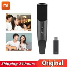 цена на Xiaomi Mijia JUNLIN Digital microphone HD Intelligent Noise Reduction Professional karaoke Mic Compatible for Android IOS