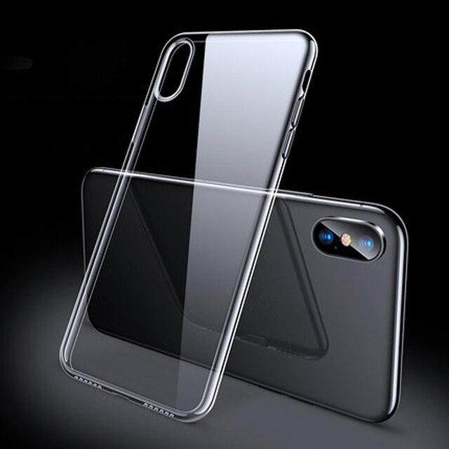 กรณีหรูหราสำหรับ iPhone X XS 8 7 6 S PLUS Capinhas Ultra Thin Slim Soft ซิลิโคน TPU กรณีสำหรับ iPhone XR 8 11 7 Coque Fundas 1