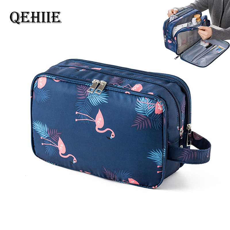 New Waterproof Men Hanging Makeup Bag Oxford Travel Organizer Cosmetic Cose For Women Necessaries Make Up Case Wash Toiletry Bag