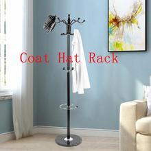 Multi Function Coat Hat Metal Rack Organizer Hanger Bedroom Stand Purse Handbag Clothes Scarf Holder Black Home Furniture HWC
