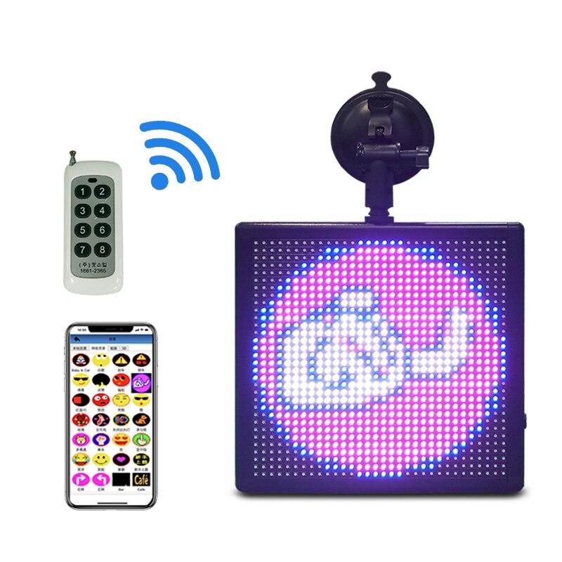 WIFI Programmable Advertising Car LED Display Shop Full Color LED Screen 5V 12V APP GIF Image Text Logo Smile Vehicle LED Sign
