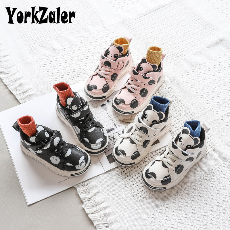 Yorkzaler Autumn Winter Kids Casual Shoes Printed Cartoon Fashion Children Shoes For Girl Boy Toddler Sneakers Running Shoes
