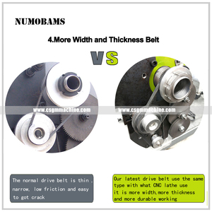 Image 5 - NUMOBAMS MT5 Spindle with 850W Brushless Motor & Quenched Bed WM210V Mini Metal Lathe Machine