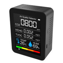 Portable CO2 Meter Digital Temperature Humidity Sensor Tester Air Quality Monitor Carbon Dioxide TVOC Formaldehyde HCHO Detector