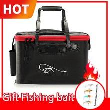 Borsa per canna da pesca Multi pieghevole zaino per pesci secchio esca custodia per esche vive scatola da esterno impermeabile attrezzatura da pesca borse da pesca