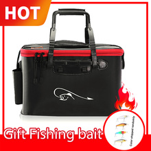 Fishing Rod Bag Multi Collapsible Fish Backpack Bucket Lure Live Bait Case Waterproof Outdoor Box Tackle Storage Fishing Bags