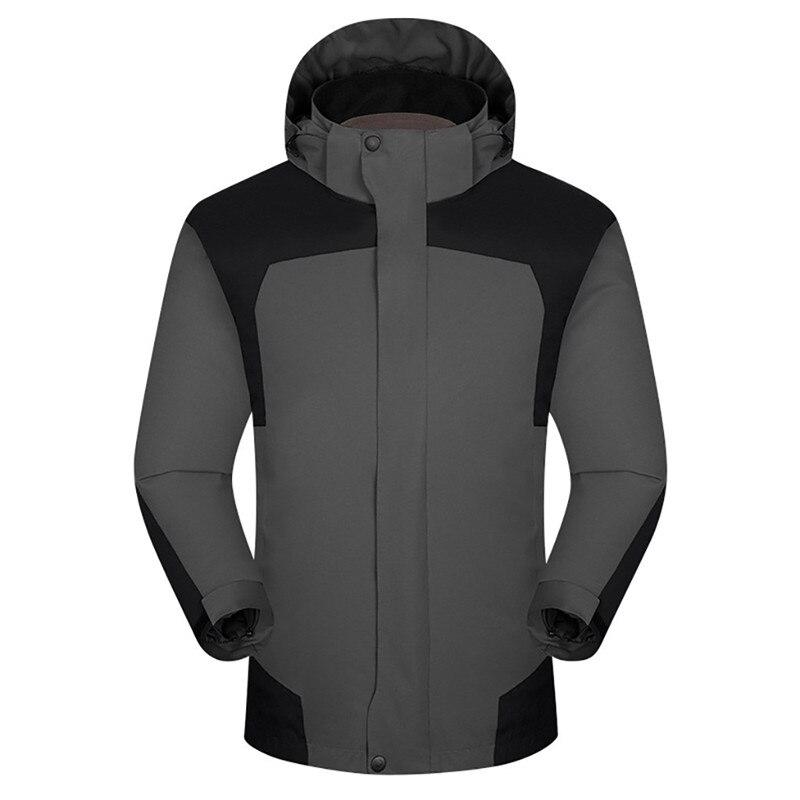 Men Winter Hooded Softshell Coats Windproof Waterproof Soft Coat Shell Jacket Slim Long Sleeve Splicing Sweatshirt Outwaer