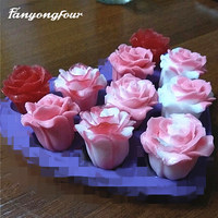 Silikon Form 3D Rose Kuchen Form Schokolade Gips Kerze Seife Candy Mold Kostenloser Versand