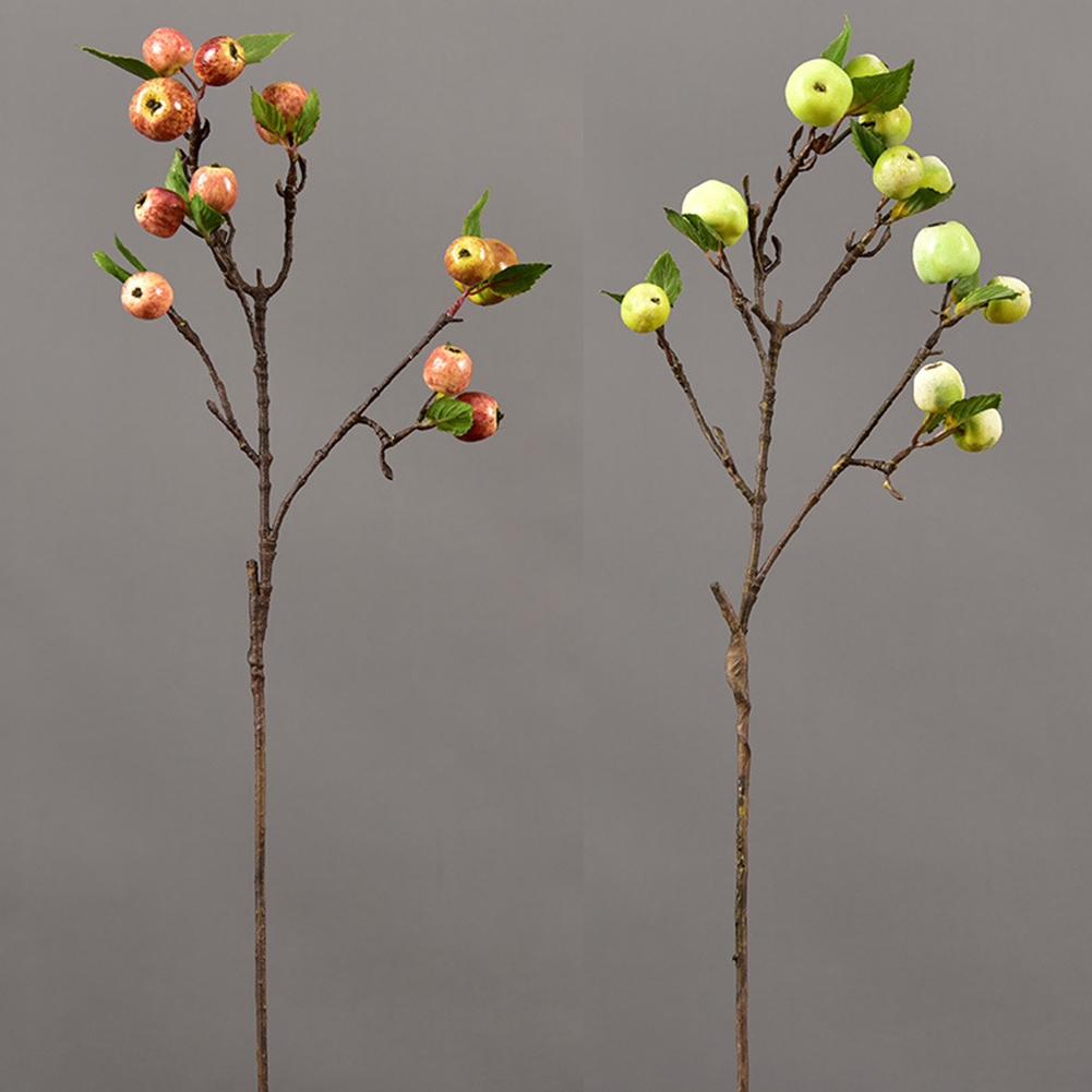 60cm 11 Heads Artificial Mini Apples Tree Flower Branch Real Touch Fake Flowers Simulated Plant Home Garden Wedding Decoration - 3