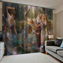 beauty curtains 3D Curtain Luxury Blackout Window Living Room curtain