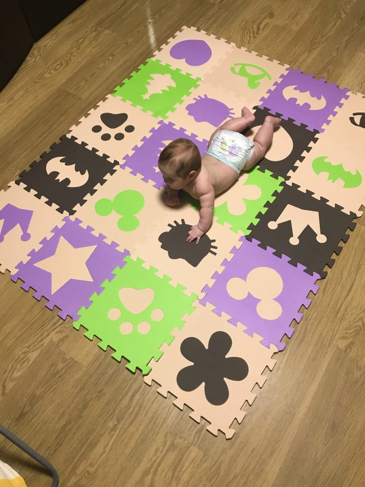 Marjinaa Baby Children's Soft Developing Crawling Rugs,baby Play Puzzle Crown Star Cartoon Foam Mat,pad Floor For Baby Games