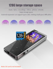 2021 New HIFI Music Lossless MP4 player with Bluetooth HD Screen 2 inch Built-in Speaker 16G MP4 Music Players SD Card up to 64G