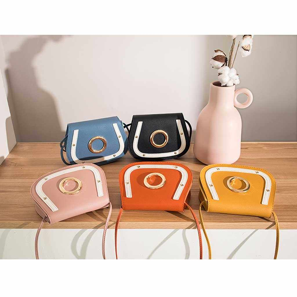 Women's Mobile Phone bags Fashion ladies solid color Messenger Bag Ring Bag Shoulder Messenger Package New Casual Small Bags