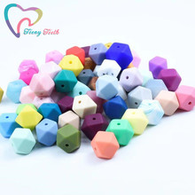 20 PCS 14 MM Baby Hexagon Silicone Beads Octagonal Bead DIY Pacifier Chain Perle