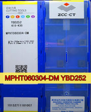 MPHT060304-DM YBD252 10 pcs/sor 100% original ZCC. CT Carboneto De inserção de Processamento: ferro fundido