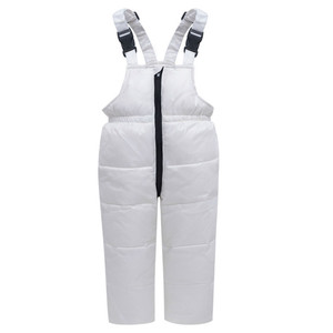 Image 4 -  30 Winter Snowsuit Children Clothing Set Baby Boy White Duck Down Waterproof Jacket for Girl Kids Coat + Bib Pants Enfant Parka