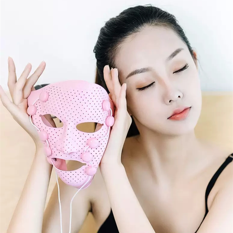 Image 3 - 3D Silicone Facial Mask Electric EMS Vibration Face Massager Skin Rejuvenation Face Care Treatment Beauty Anti age Beauty Spa-in Face Skin Care Tools from Beauty & Health