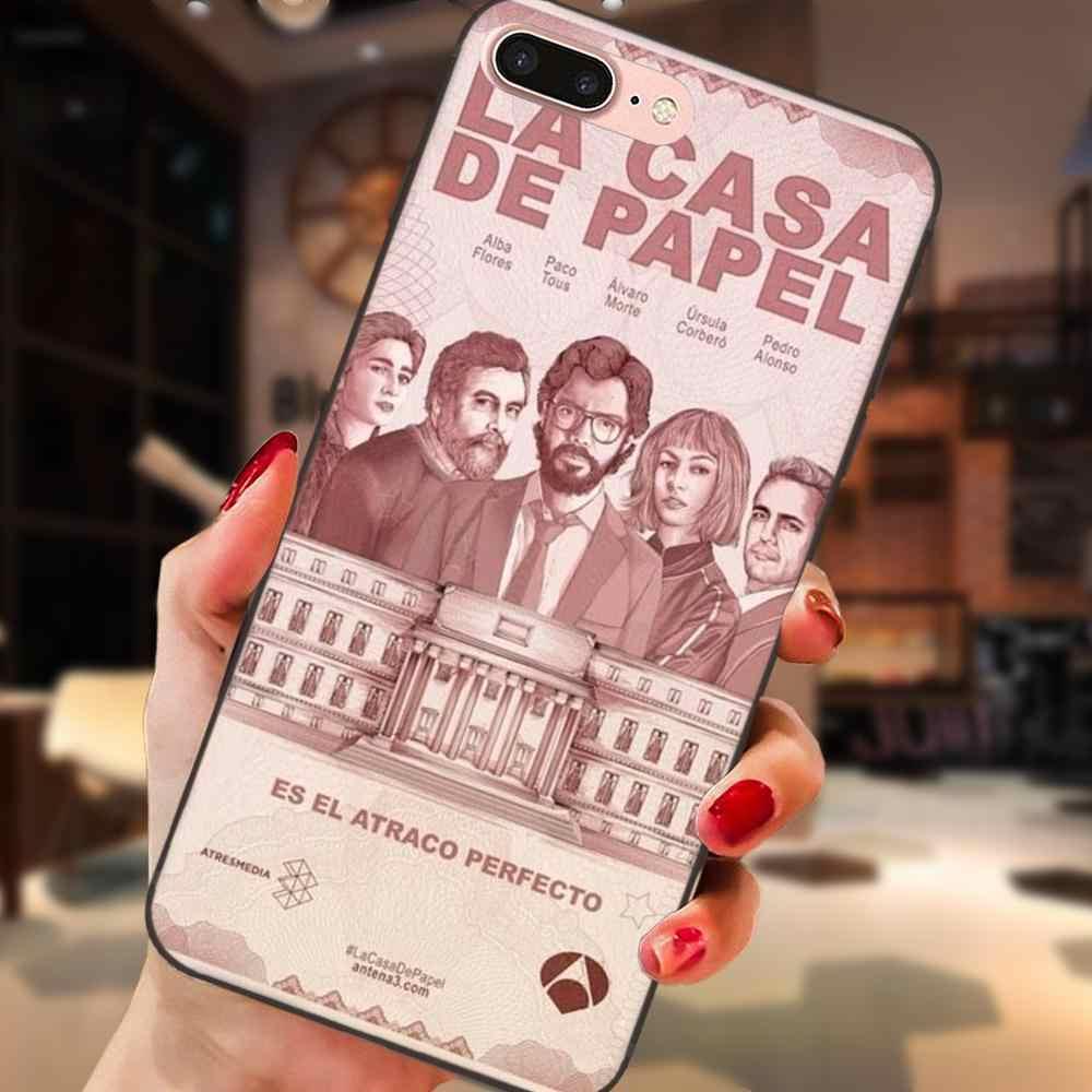 Espanha tv la casa de papel tpu arte impressão para galaxy c5 c7 j1 j2 j3 j330 j5 j6 j7 j730 2017 ace core duo max mini plus prime pro