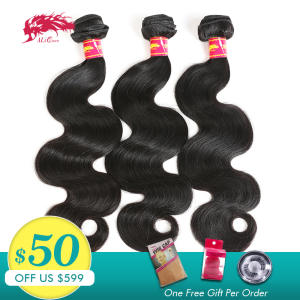 Hair-Product Remy-Hair Body-Wave Ali-Queen Hair-Weave-Bundles Black-Color 100%Human-Hair
