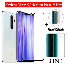 3-in-1 Case + Front Glass Redmi Note 8Pro Screen Protector for xiaomi redmi note8 Back Film Tempered note 8 3D
