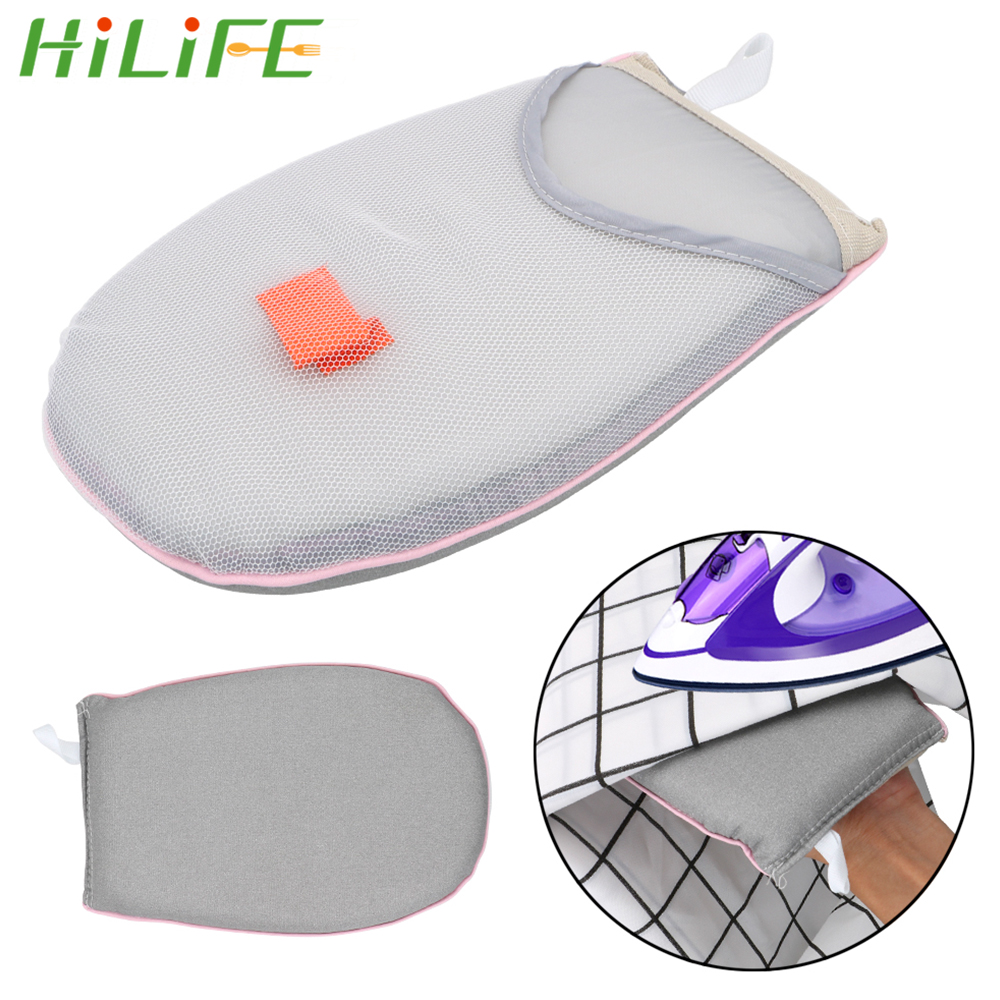 HILIFE Hand-Held Heat Resistant Glove Mini Ironing Pad  Sleeve Ironing Board  For Clothes Garment Steamer Iron Table Rack