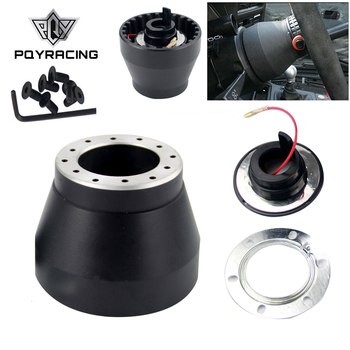 PQY - Black Racing Steering Wheel Hub Adapter Boss Kit For BMW E30 PQY-HUB-E30 image