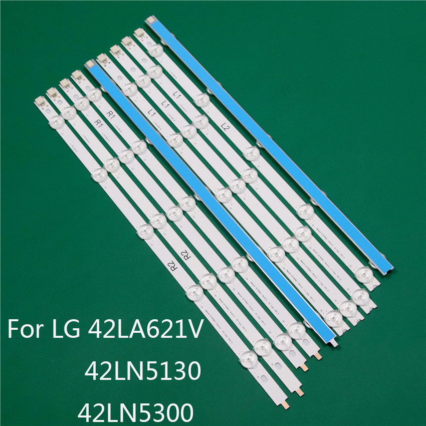 LED TV Illumination Part For LG 42LA621V 42LN5130 42LN5300 LED Bars Backlight Strips Line Ruler 42