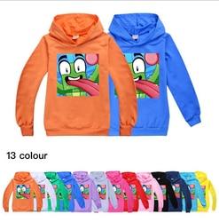 2-16y indescritível crianças hoodies camisetas crianças algodão com capuz moletom dos desenhos animados topos meninos meninas casual pulôver camisetas #476