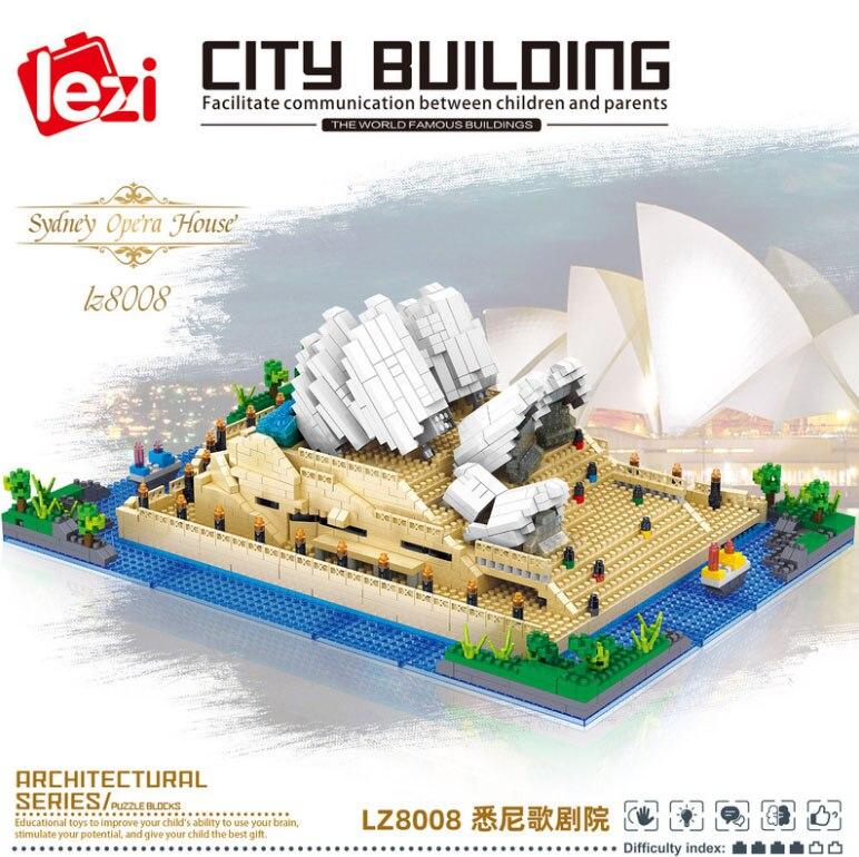 Balody World Famous Architecture Diamond Building Blocks Toy Taj Mahal Vassili Church Big Ben London Bridge 27