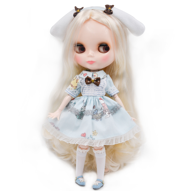 Neo Blyth Doll NBL Customized Shiny Face,1/6 BJD Ball Jointed Doll Ob24 Doll Blyth For Girl, Toys For Children NBL07