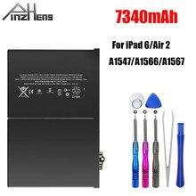 PINZHENG-batterie de remplacement, 7340mAh, batterie de remplacement pour iPad 6 Air 2 A1566 A1567, Cycle 0, avec outil