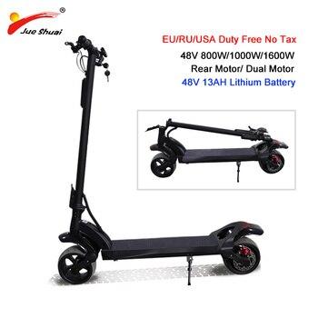 48 V/1600 W Scooter Eléctrico de doble Motor 48V13AH Scooter plegable eléctrico adulto patinete eléctrico adulto