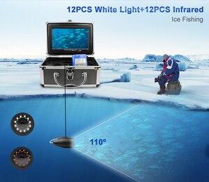 Image 2 - Fish Finder 1280*720 ความละเอียดกล้องตกปลาใต้น้ำ 12pcs ไฟ LED สีขาว + 12pcs อินฟราเรดสำหรับน้ำแข็งตกปลา 16GB Recod