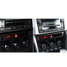Car Center Console Frame Sticker Carbon Fiber Elements Personal Car Part Ornaments for Toyota 86 Subaru BRZ 2013-2017